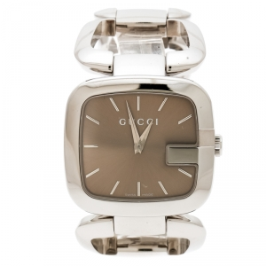 Gucci Brown Stainless Steel G 126.4 Women's Wristwatch 32 mm