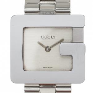 Gucci Cream Stainless Steel 3600J Women's Wristwatch 27MM