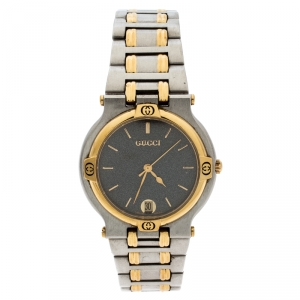 Gucci Grey Stainless Steel 9000M Women's Wristwatch 32MM