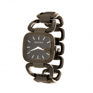 Gucci Black PVD Coated Stainless Steel G Series 125.4 Women's Wristwatch 33 mm