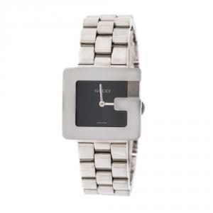 Gucci Black Stainless Steel 3600J Women's Wristwatch 26 mm