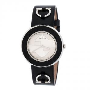 Gucci Silver Stainless Steel U-Play 129.4 Women's Wristwatch 35MM