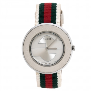 Gucci Silver Stainless Steel U-Play 129.4 Women's Wristwatch 35 mm