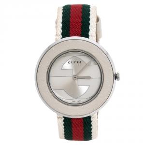 ساعة يد نسائية غوتشي يو-بلاي 129.4 ستانلس ستيل فضية 35 مم