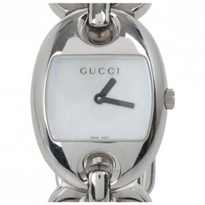 Gucci 121.5 MOP SS Marina Chain Womens Wristwatch 26 MM