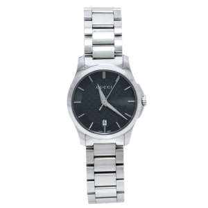 Gucci Grey Stainless Steel G-Timeless 126.4 Women's Wristwatch 27 mm