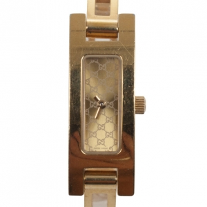 Gucci Yellow Gold Plated Stainless Steel 3900L Womens Wristwatch 34 MM
