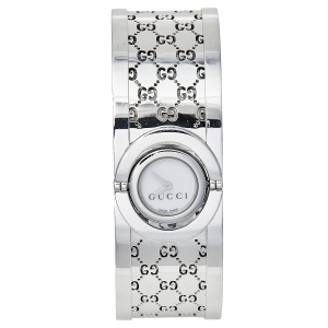 Gucci White Stainless Steel Twirl YA112510 Women's Wristwatch 23 mm