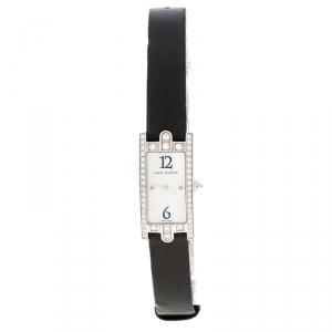 Harry Winston Mother of Pearl Diamond 18k White Gold 332LQW Women's Wristwatch 15MM