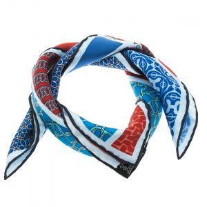 Hermes Multicolor Silk Twill Carre En Cravates Square Scarf