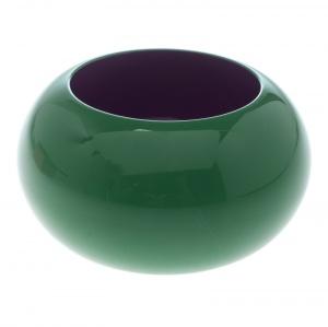 Hermes Green & Purple Dune Bois Laqué Wide Bangle Bracelet
