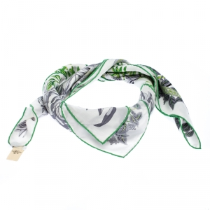 Hermes White La Promenade De Platon Printed Silk Scarf