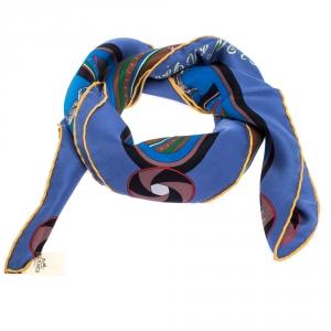 Hermès Multicolor Striped Silk Twill Sequences Scarf