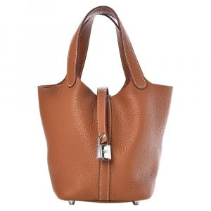 Hermes Clemence Leather Picotin Lock 18 Bag