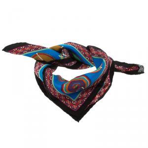 Hermes Multicolor Printed Silk Belles Du Mexique Square Scarf