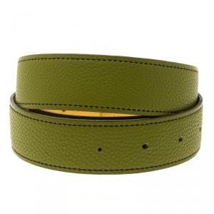 حمالة حزام هيرمس ريفيرسيبل جلد سوداء وخضراء أنيس 85 سم