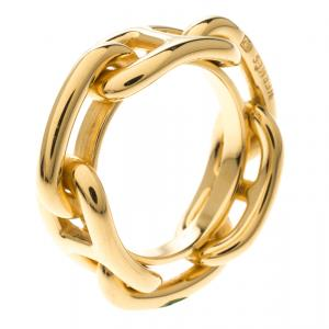 Hermes Regate Gold Plated Scarf Ring
