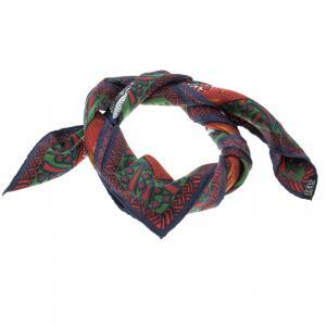 Hermes Multicolor Printed Silk Zenobie Reine de Palmyre Square Scarf