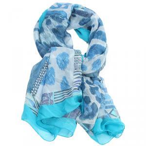 Hermes Blue Pelages Et Camouflage Silk Square Scarf