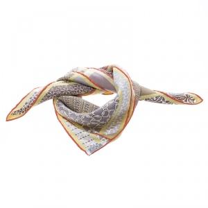 Hermes Multicolor Printed Carre en Cravates Pochette Scarf