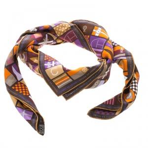 Hermes Multicolor Voyage en Hermes Printed Silk Square Scarf