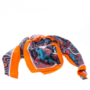 Hermes Collection Imperiales Multicolor Silk Twill Scarf