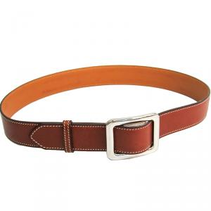 Hermes Brown Leather Belt