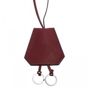 Hermes Red Clemence Leather Margiela Cover of Key Necklace