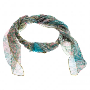 Hermes Multicolor Tapis Persans Silk Scarf