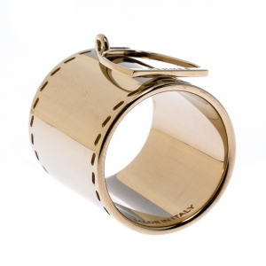 Hermes Etrier Gold Tone Scarf Ring