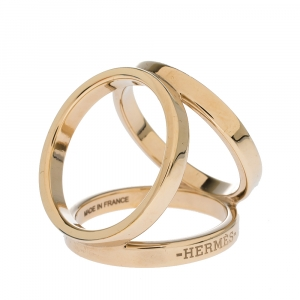 Hermes Trio Permabrass Scarf Ring