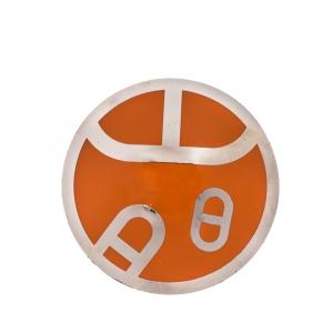 Hermès Orange Chaîne d'Ancre Motif Round Scarf Ring