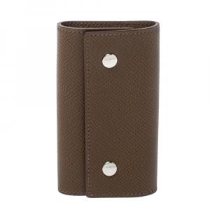 Hermes Etoupe Grey Epsom Leather 4 Key Holder Case