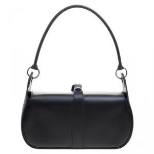 Hermes Black Box Calf Leather Rugby Bag