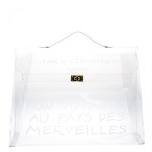 حقيبة هيرمس كيلي فينتدج فينيل شفافة