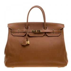 Hermes Gold Togo Leather Gold Hardware Birkin 40 Bag