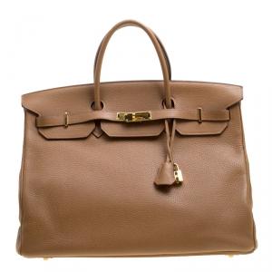 Hermes Natural Togo Leather Gold Hardware Birkin 40 Bag
