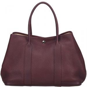 Hermes Purple Negonda Leather Garden Party 36 Bag