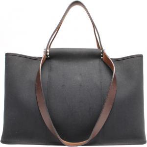 Hermes Black Canvas Cabag Elan Tote Bag