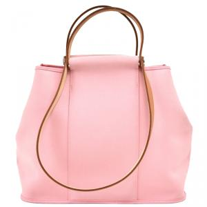 Hermes Pink Toile Canvas Cabag Elan Bag