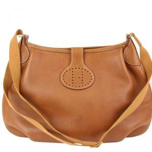 Hermes Brown Leather Rodeo II Bag