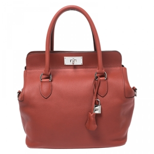 Hermes Rouge Venitinne Ever Color Leather Palladium Toolbox 26 Bag