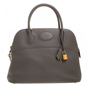 Hermes Etain Clemence Leather Bolide 31 Bag