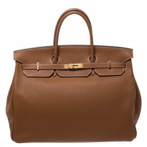 Hermes Caramel Togo Leather Gold Hardware Birkin 40 Bag