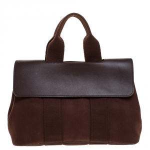 Hermes Brulee Canvas and Leather Valparaiso PM Bag