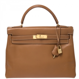 حقيبة هيرمس كيلي رتورن إكسسوار ذهبي اللون جلد تاديكلات ناتشورال 32