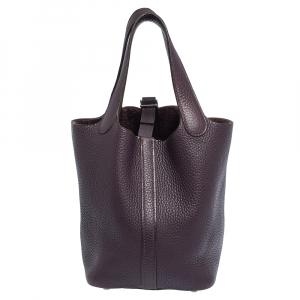 Hermes Ultra Violet Togo Leather Picotin PM Bag
