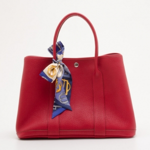 Hermes Bougainville Leather Garden Party Tote