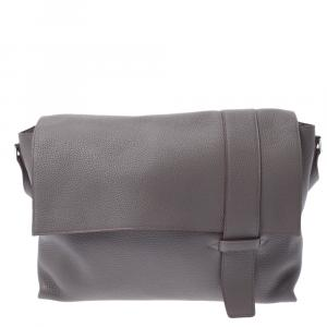 Hermes Grey Clemence Leather Bag