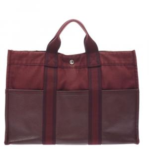 Hermes Brown Canvas Fourre Tout Bag